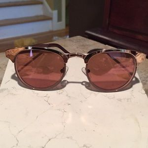 Anthropologie copper rose gold mirrored sunglasses